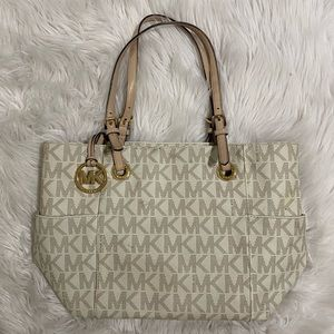 medium nude Michael Kors tote